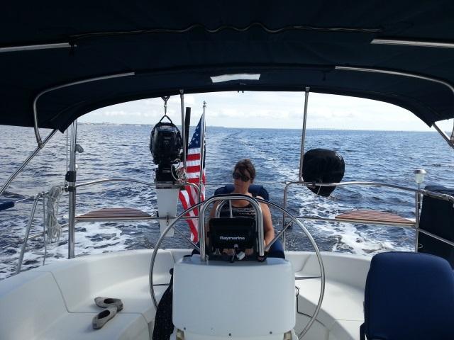 Motor Sailing To Orange Beach